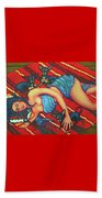 Frida Kahlo - Dreaming Of Diego Beach Towel