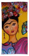 Frida Kahlo Beach Towel