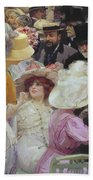 Friday At The French Artists Salon Beach Towel by Jules Alexandre Grun