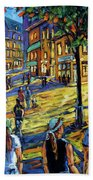 Friday Night Walk Prankearts Fine Arts Beach Towel