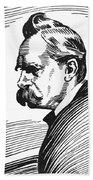 Friedrich Nietzsche Beach Towel