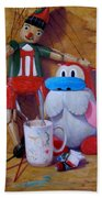 Friends 2  -  Pinocchio And Stimpy   Beach Towel