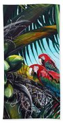 Friends Of A Feather Beach Towel by Karin  Dawn Kelshall- Best