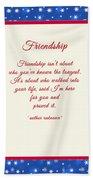 Friendship Poem Beach Towel