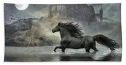 Friesian Fantasy Revisited Beach Towel