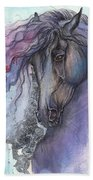 Friesian Horse 2015 12 24 Beach Towel
