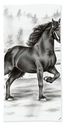 Friesian Horse Beach Sheet