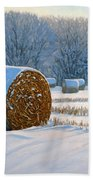 Frigid Morning Bales Beach Towel