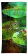 Frog And Lily Pad 3076 Idp_2 Beach Towel