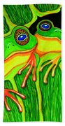 Froggie Trio Beach Towel