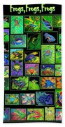 Frogs Poster Beach Towel