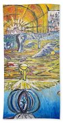 From Ground To Sky Beach Towel
