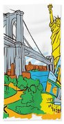 From Old To New York Beach Towel