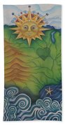 From Sea To Shining Sea Beach Towel
