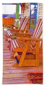 Front Porch On An Old Country House  1 Beach Towel