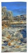 Frost Along The Creek Beach Sheet