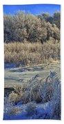 Frost Along The Creek - Panorama Beach Sheet