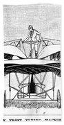 Frost Flying Machine, 1891 Beach Towel