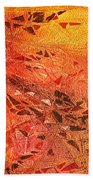 Frosted Fire I Beach Towel