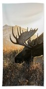 Frosted Grass For Breakfast Beach Towel