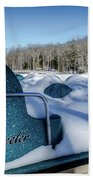 Frosted Paddleboats Beach Towel