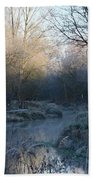 Frosted Riverbank Beach Towel