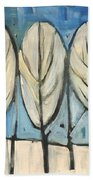 Frosted Trees Beach Towel
