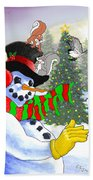Frosty And Friends Beach Towel