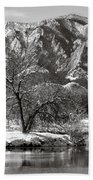 Frosty Flatirons 2 Beach Towel