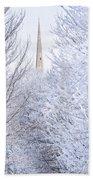 Frosty Morning Beach Towel