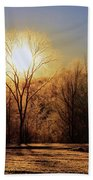 Frosty Morning Beach Towel