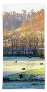 Frosty Morning On The Farm Beach Towel