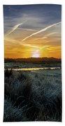 Frosty Sunrise Beach Towel
