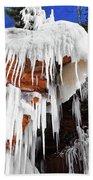 Frozen Apostle Islands National Lakeshore Beach Towel