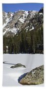 Frozen Colorado  Beach Towel