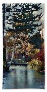 Frozen Creek II Painting Beach Towel