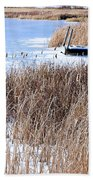 Frozen Dock Beach Towel