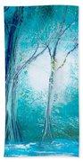 Frozen Forest Beach Towel