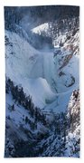 Frozen Lower Falls Beach Towel
