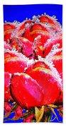 Frozen Roses Beach Towel