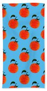Fruit 01_orange_pattern Beach Towel