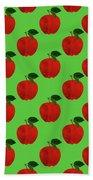 Fruit 02_apple_pattern Beach Towel