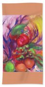 Fruit And Flowers Beach Towel