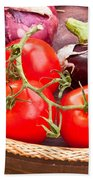 Fruit And Vegetables Beach Towel