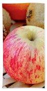 Fruit Basket. Apple. Beach Towel