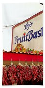 Fruit Basket Stand Beach Towel