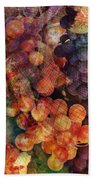 Fruit Of The Vine Beach Towel by Barbara Berney