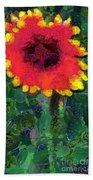 Fruit Salad Flower Beach Towel