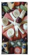 Fruit Spiral Beach Towel