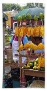 Fruit Stand Antigua  Guatemala Beach Sheet